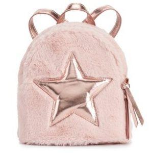 Handbags - Plush pink mini backpack